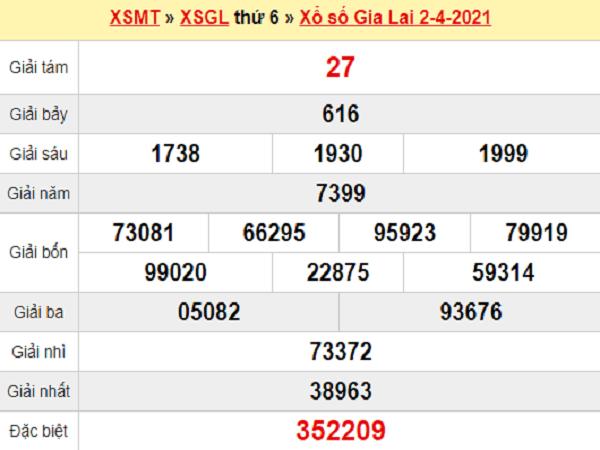 Thống kê XSGL 9/4/2021